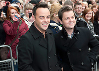 Britain's Got Talent in Edinburgh. Pictured (L) Ant and Dec..Picture: Pavol Mraz/Universal News And Sport (Scotland). 11/ February 2012.
