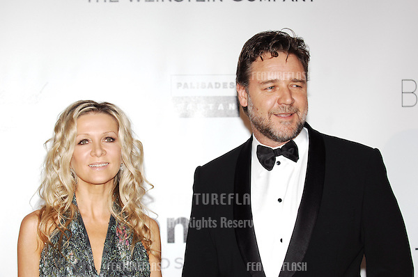 Russell Crowe & Danielle Spencer  at the amfAR Cinema Against AIDS Gala at the Hotel du Cap, Antibes..May 20, 2010  Antibes, France.Picture: Paul Smith / Featureflash
