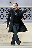 """Washington, DC - January 18, 2009 -- Bono performs at the """"Today: We are One - The Obama Inaugural Celebration at the Lincoln Memorial"""" in Washington, D.C. on Sunday, January 18, 2009..Credit: Ron Sachs / CNP.(RESTRICTION: NO New York or New Jersey Newspapers or newspapers within a 75 mile radius of New York City)"""