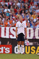 22 MAY 2010:  USA's Abby Wambach #20 during the International Friendly soccer match between Germany WNT vs USA WNT at Cleveland Browns Stadium in Cleveland, Ohio on May 22, 2010.