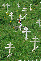 Native Alaskan cemetery, St. Paul Island, Pribilof Islands, Alaska