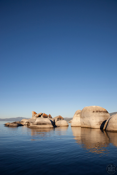"""Boulders at Lake Tahoe 1"" - These boulders were photographed early in the morning at Lake Tahoe, near Speed Boat Beach."