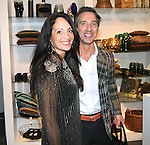 Emma Snowdon-Jones and Andrew Sedlock attend Save the Eggs benefit Cocktails 2010 hosted by Tia Walker, Peggie Walker, BoConcept Owner Shaokao Cheng & Emma Snowdon-Jones at BoConcept New York, 5/17/10