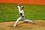 2 July 2011: Vermont Lake Monsters pitcher Tanner Peters on the mound against the Tri-City ValleyCats at Centennial Field in Burlington, Vermont. The Lake Monsters rallied from a 4-2 deficit to defeat the ValletCats 7-4 in NY Penn League action. Mandatory Credit: Ed Wolfstein Photo