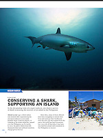 An article about how shark tourism in Malapascua, Philippines has helped the locals rebuild their lives after the devastation of Typhoon Haiyan.