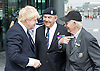 Raising the flag for Armed Forces Day <br /> at City Hall, London, Great Britain <br /> <br /> 20th June 2011<br /> <br /> Boris Johnson <br /> Mayor of London<br /> <br /> with some Veterans<br /> <br /> Photograph by Elliott Franks