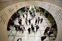 TALLAHASSEE, FLA. 5/3/13-SESSIONEND050313CH-Lobbyists, lawmakers and staff crowd the rotunda between the House and Senate chambers during the final day of the legislative session May 3, 2013 at the Capitol in Tallahassee...COLIN HACKLEY PHOTO