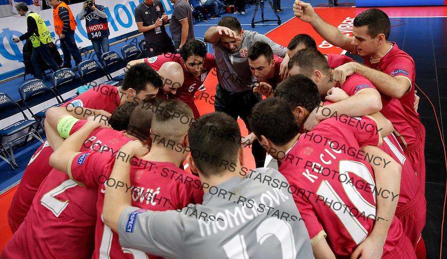 UEFA Euro 2016 Futsal Evropsko Prvenstvo, Srbija - Ukrajina 8.2.1016. Februar 8. 2016. (credit image & photo: Pedja Milosavljevic / STARSPORT)