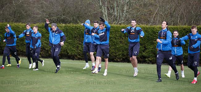 Kenny Black taking training