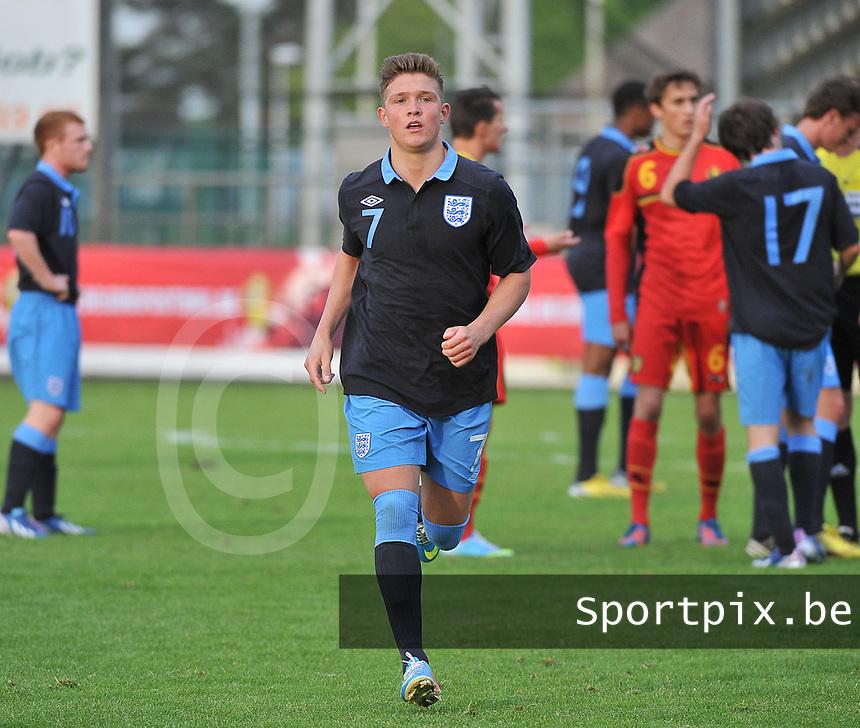 Belgium U19 - England U19 : Maximilian Clayton.foto DAVID CATRY / Nikonpro.be
