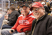 Tom Monaghan, father of BU alum Ryan and Doug McGuirk, father of Brian - The Northeastern University Huskies defeated the Boston University Terriers 3-2 in the opening round of the 2013 Beanpot tournament on Monday, February 4, 2013, at TD Garden in Boston, Massachusetts.