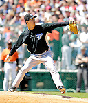 21 May 2007: Toronto Blue Jays pitcher Tomo Ohka in action against the Baltimore Orioles at Doubleday Field during Baseball's Annual Hall of Fame Game in Cooperstown, NY. The Orioles defeated the Blue Jays 13-7 in front of a sellout crowd of 9,791 at the historical ballpark...Mandatory Credit: Ed Wolfstein Photo