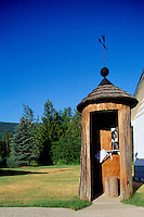 World's Oldest Telephone Booth inside Cedar Tree Trunk, Salmo, BC, British Columbia, Canada - (approx. 500 years old)