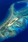 Ile Ndié, Passe de la Sarcelle, lagon Sud, Nouvelle-Calédonie. Fait partie des sites classés au Patrimoine Mondial de l'Humanité (UNESCO)