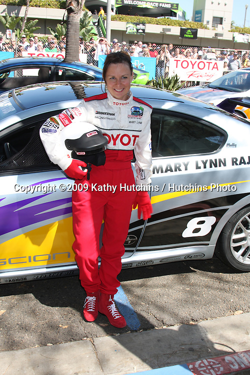 Mary Lynn Rajskub with her car at the  Toyota Pro/Celeb Qualifying Day on April 17 ,2009 at the Long Beach Grand Prix course in Long Beach, California..©2009 Kathy Hutchins / Hutchins Photo....                .