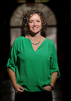 NWA Democrat-Gazette/ANDY SHUPE<br /> Laura King Kellams, executive director of Arkansas Advocates for Children and Families of Northwest Arkansas, poses Thursday, Feb. 2, 2017, at the Springdale Pre-Kindergarten Center in Springdale.