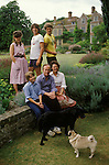Sir George and Mary Christie family, the owners of Glyndebourne Opera House, Lewes Sussex England circa 1975.<br /> Left to right. Children. Louise, Gus, Hector, Ptolemy sitting next to his father. Gus is now running Glyndebourne. Hector is a new age activist and owner of Tapeley Park in Devon.  Louise Flind, (Nee Christie) and Ptolemy both work in the theatre?