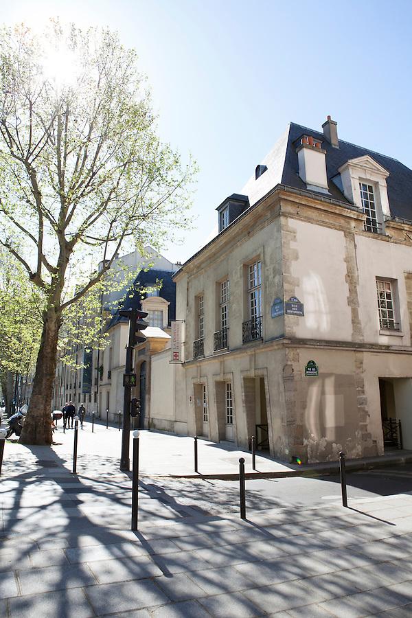 Street corner in the 5th arrondisement, Paris, France