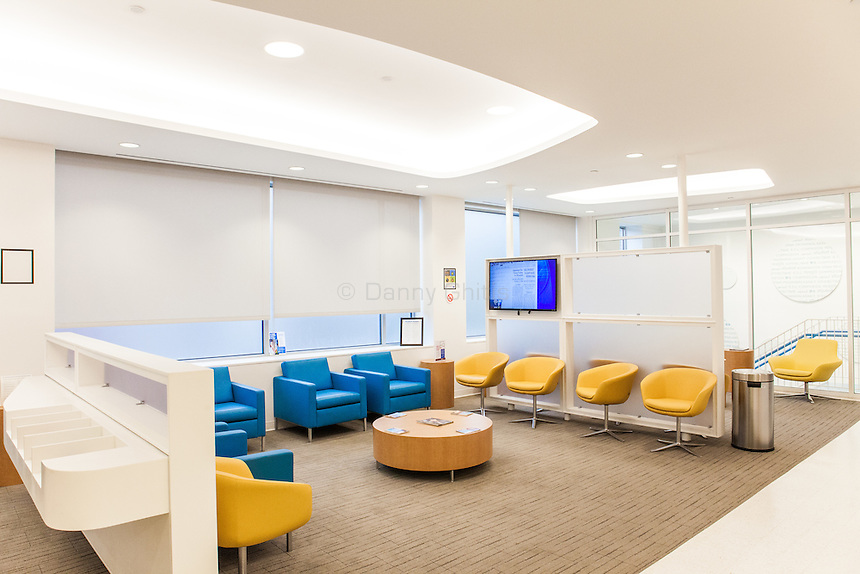 The new Diane Max Health Center of Planned Parenthood in Long Island City designed by architect Stephen Yablon. <br /> <br /> View from the main waiting room on the second floor. <br /> <br /> <br /> <br /> Danny Ghitis for The New York Times