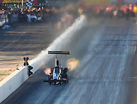 Feb 24, 2017; Chandler, AZ, USA; NHRA top fuel driver Troy Buff during qualifying for the Arizona Nationals at Wild Horse Pass Motorsports Park. Mandatory Credit: Mark J. Rebilas-USA TODAY Sports