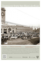 Ferry Building from the Northside of Market Street on East Street | August 22, 1905 | Treasures from the Muni Archive