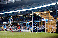 BRONX, NY - Wednesday September 16, 2015: New York City FC defeats Toronto FC 2-0 at home at Yankee Stadium during the 2015 MLS regular season.