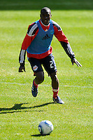Tony Tchani (23) of the New York Red Bulls during a practice at Red Bull Arena in Harrison, NJ, on March 16, 2010.