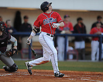 Ole Miss' David Phillips bats vs. Louisiana-Monroe at Oxford-University Stadium in Oxford, Miss. on Friday, February 19, 2010.