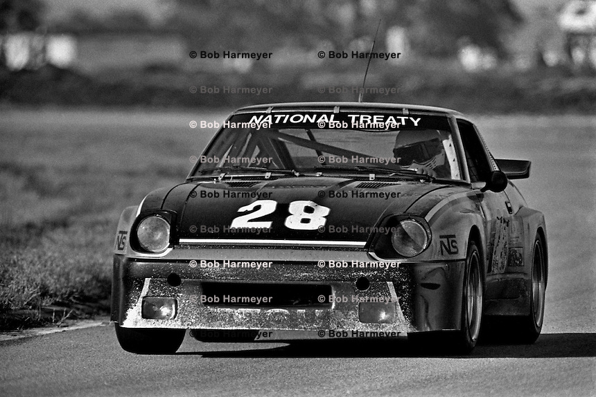The Datsun 280ZX Turbo of Sam Posey and Fred Stiff is driven during the 12 Hours of Sebring Camel GT IMSA race at Sebring International Raceway near Sebring, Florida, on March 21, 1981. (Photo by Bob Harmeyer)