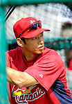 14 March 2007: St. Louis Cardinals outfielder So Taguchi takes batting practice prior to facing the Washington Nationals at Roger Dean Stadium in Jupiter, Florida...Mandatory Photo Credit: Ed Wolfstein Photo