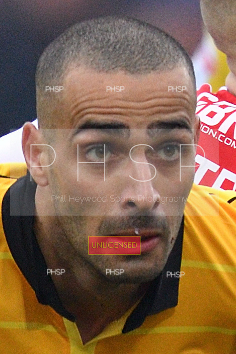 11/03/2017 Sky Bet League 1 Fleetwood Town v Bolton Wanderers<br /> <br /> Darren Pratley holds off Ashley Hunter