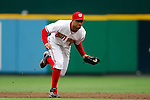 18 July 2007:  Washington Nationals shortstop Felipe Lopez (2) in action against the xx.  The Nationals defeated the Astros 7-6 at RFK Stadium in Washington, D.C.  ****For Editorial Use Only****