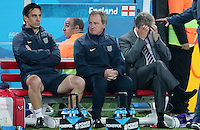 Dejected  England Manager Roy Hodgson and England Bench after 2-1 defeat