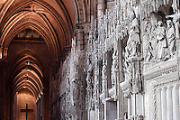 Fragment of the choir screen, built by Jehan de Beauce, 1514 - 1529, depicting scenes from the life of Mary and of Christ, south ambulatory, Chartres Cathedral, Eure et Loir, France. Picture by Manuel Cohen