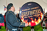 Fund raiser for firefighter Ray Pfeifer on Saturday, March 31, 2012, at East Meadow Firefighters Benevolent Hall, New York, USA. The Nassau County Firefighters Pipes and Drums band performed.