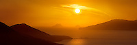 Colourful Sunset Panorama overlooking Ballinskelligs Bay with View on The Great Skelligs / sk020 I love the Skelligs,