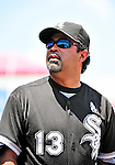 20 June 2010: Chicago White Sox' Manager Ozzie Guillen looks out from the dugout during a game against the Washington Nationals at Nationals Park in Washington, DC. The White Sox swept the Nationals winning 6-3 in the last game of their 3-game interleague series. Mandatory Credit: Ed Wolfstein Photo