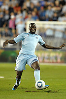 Lawrence Olum Sporting KC defender in action... Sporting Kansas City defeated Columbus Crew 2-1 at LIVESTRONG Sporting Park, Kansas City, Kansas.