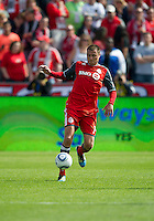 17 September 2011: Toronto FC forward Danny Koevermans #14 in action during an MLS game between the Colorado Rapids and the Toronto FC at BMO Field in Toronto, Ontario Canada..Toronto FC won 2-1.