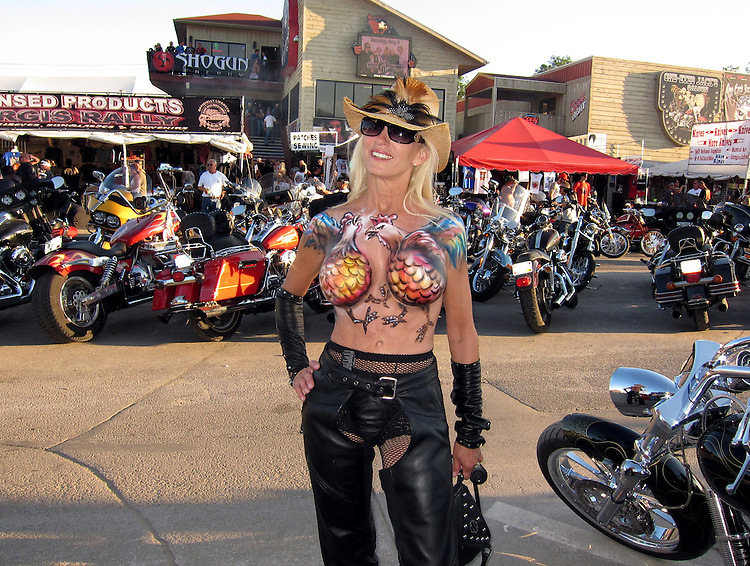 in downtown Sturgis, South Dakota during the 70th annual Sturgis