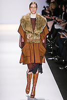 Iris Egbers walks the runway in an out by Max Azria, for the BCBGMAXAZRIA Fall 2011 fashion show, during Mercedes Benz Fashion Week.