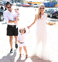 PACIFIC PALISADES, CA, USA - OCTOBER 11: Kaius Jagger Berman, Skyler Morrison Berman, Rachel Zoe arrive at the 5th Annual Veuve Clicquot Polo Classic held at Will Rogers State Historic Park on October 11, 2014 in Pacific Palisades, California, United States. (Photo by Xavier Collin/Celebrity Monitor)