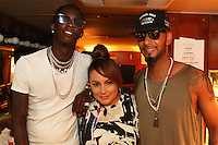 BRONX, NEW YORK - AUGUST 13, 2016 Young Thug, Angie Martinez & Swizz Beatz attend the Bacardi x Dean Collection No Commission Art event, August 13, 2016  in The Bronx, New York. Photo Credit: Walik Goshorn / Mediapunch