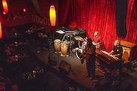 Mel Brown on drums with the Mel Brown Hammond B3, featuring Louis Pain on hammond B3, Renato Caranto on Sax and Dan Balmer on gutar Group at Jimmy Maks in Portland, Oregon