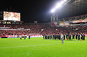 General view, DECEMBER 3, 2011 - Football / Soccer : Urawa Reds president Mitsuo Hashimoto speaks to fans as Urawa Reds players line up behind him after the 2011 J.League Division 1 match between Urawa Red Diamonds 1-3 Kashiwa Reysol at Saitama Stadium 2002 in Saitama, Japan. (Photo by AFLO)