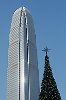 2IFC towering above a Christmas tree in Central