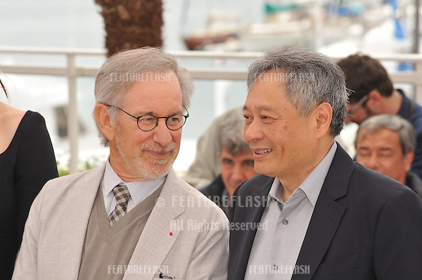 Steven Spielberg & Ang Lee (right) at the photocall for the Jury of the 66th Festival de Cannes..May 15, 2013  Cannes, France.Picture: Paul Smith / Featureflash