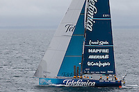 NEW ZEALAND. 11th March 2012. Volvo Ocean Race Leg 4. Leg finish Auckland. Team Telefonica.