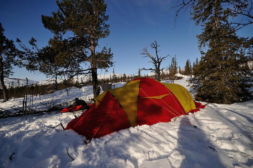 Teltliv, Tenting