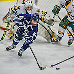 14 February 2015: University of New Hampshire Wildcat Forward Nicoline Jensen, a Junior from Rodovre, Denmark, in third period action against the University of Vermont Catamounts at Gutterson Fieldhouse in Burlington, Vermont. The Ladies played to a 3-3 tie in their final meeting of the NCAA Hockey East season. Mandatory Credit: Ed Wolfstein Photo *** RAW (NEF) Image File Available ***